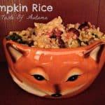 Pumpkin Rice-Autumn In A Bowl