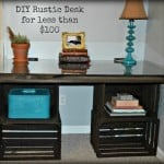 DIY Rustic Desk For Less Than $100