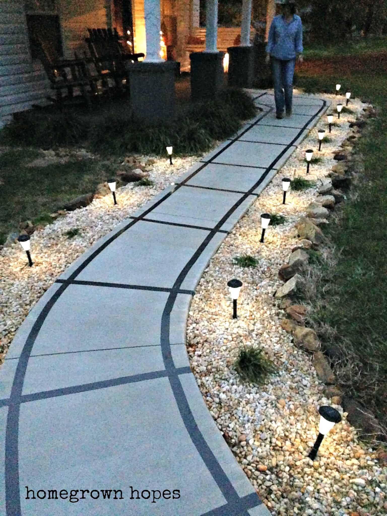 track sidewalk