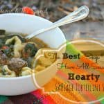 Hearty Chicken Tortellini Soup-Homestead Blog Hop #43